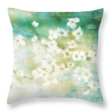 Fragrant Waters - Abstract Art Throw Pillow
