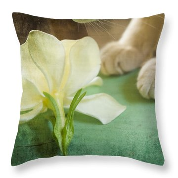 Fragrant Gardenia Throw Pillow
