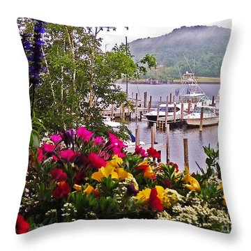 Fragrant Marina Throw Pillow
