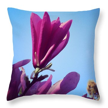 Throw Pillow featuring the photograph Fragrant Silence by Kerri Farley