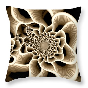 Frail Throw Pillow by Kevin Trow
