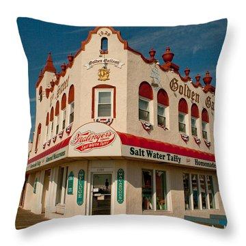 Fralinger's - Golden Galleon Throw Pillow