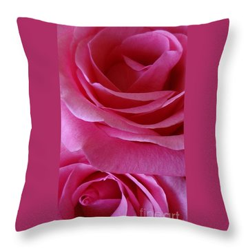 Face Of Roses 3 Throw Pillow
