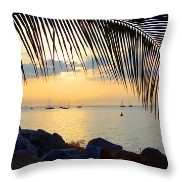 Framed By Fronds Throw Pillow