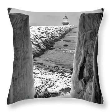 Framed Throw Pillow by David Cote