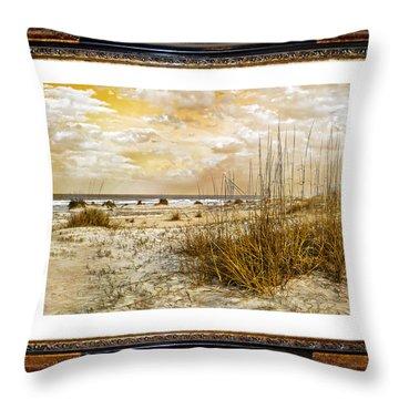 Framed Dunes Throw Pillow