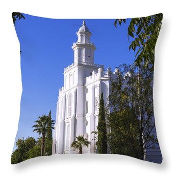 Framed House Throw Pillow