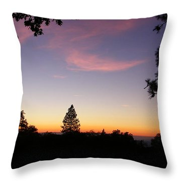 Framed Pink Clouds Throw Pillow
