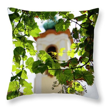 Throw Pillow featuring the photograph Framed Steeple by KG Thienemann
