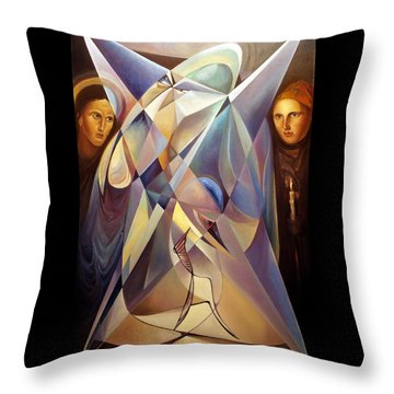 Throw Pillow featuring the painting Frames Mover Or Light Fighter by Mikhail Savchenko