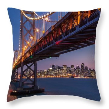 Throw Pillow featuring the photograph Framing San Francisco by Mihai Andritoiu