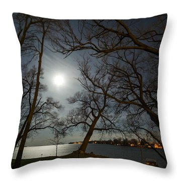 Framing The Moon Throw Pillow