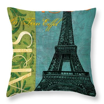 Francaise 1 Throw Pillow by Debbie DeWitt