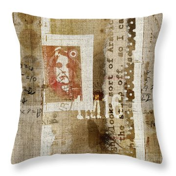France 1m16 Collage Throw Pillow