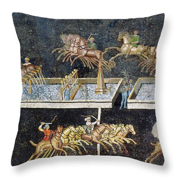 France Gallo-roman Mosaic Throw Pillow