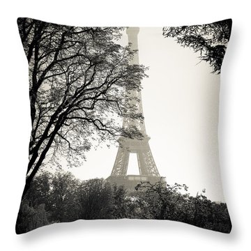 The Eiffel Tower Paris France Throw Pillow