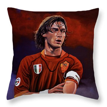 Francesco Totti Throw Pillow by Paul Meijering