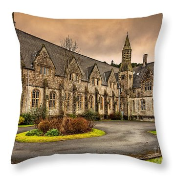 Franciscan Friary Throw Pillow by Adrian Evans