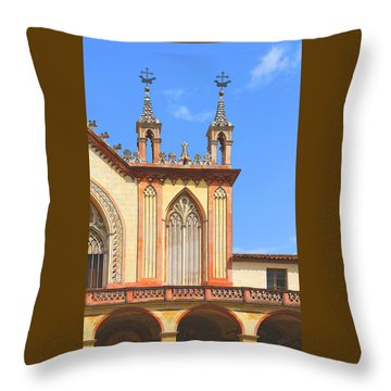 Franciscan Monastery In Nice France Throw Pillow by Ben and Raisa Gertsberg