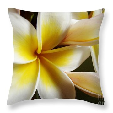 Frangipani 1 Throw Pillow