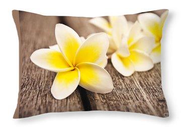 Frangipani Throw Pillows