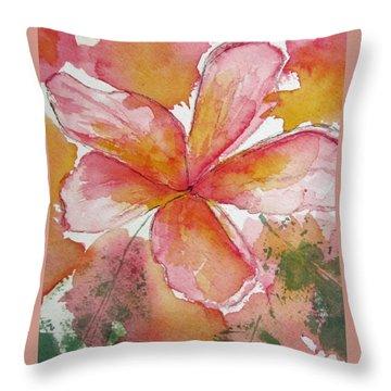 Frangipani Throw Pillow by Elvira Ingram