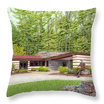 Frank Lloyd Wright At Duncan House Throw Pillow