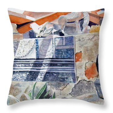 Frank Lloyd Wright Taliesin West 2 Throw Pillow by Carol Flagg