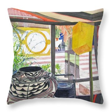 Frank Lloyd Wright Taliesin West Throw Pillow by Carol Flagg