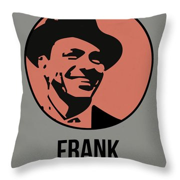 Frank Poster 1 Throw Pillow by Naxart Studio