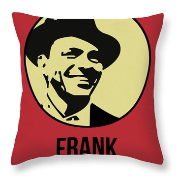 Frank Poster 2 Throw Pillow by Naxart Studio