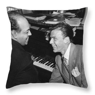 Frank Sinatra At Stork Club Throw Pillow