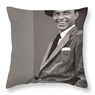 Frank Sinatra Throw Pillow by Daniel Hagerman
