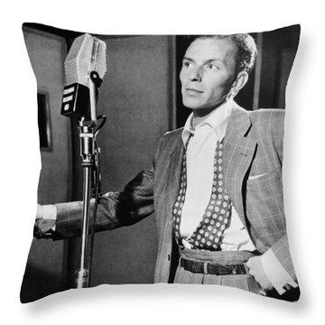 Frank Sinatra Throw Pillow by Mountain Dreams