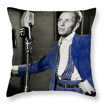 Frank Sinatra - Old Blue Eyes Throw Pillow