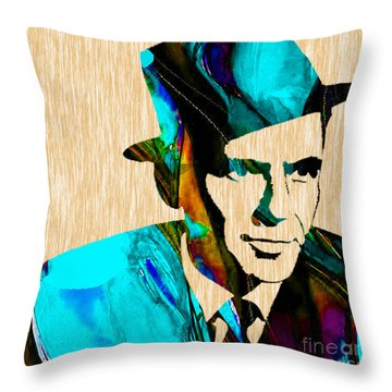 Frank Sinatra Art Throw Pillow by Marvin Blaine