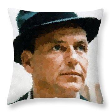 Frank Sinatra Portrait Throw Pillow