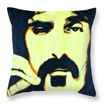 Frank Zappa Pop Art Throw Pillow
