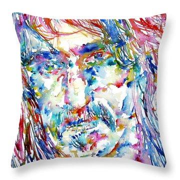 Frank Zappa  Portrait.3 Throw Pillow