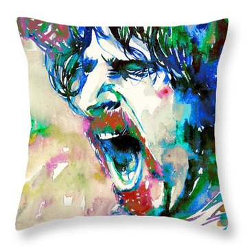 Frank Zappa  Portrait.4 Throw Pillow