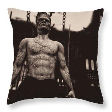 Frankenstein's Science Throw Pillow