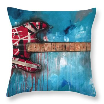 Frankenstrat Throw Pillow