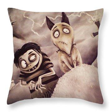 Frankenweenie Throw Pillow