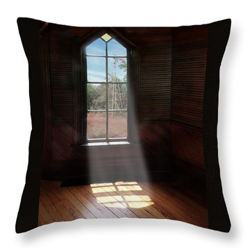 Frankford Church - Let The Sun Shine In Poster W Windmill Throw Pillow
