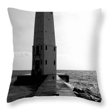 Frankfort Michigan Lighthouse Ll Throw Pillow