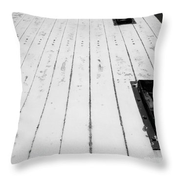 Frankfort Michigan Lighthouse Throw Pillow by Michelle Calkins