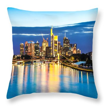 Frankfurt Am Main Throw Pillow