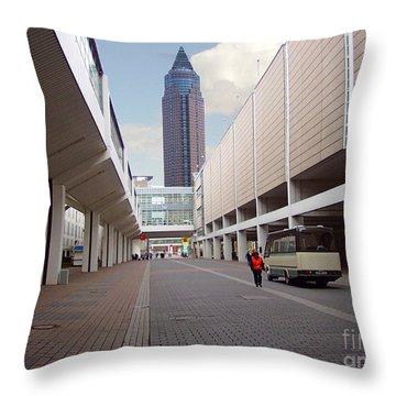 Frankfurter Messe Turm Throw Pillow