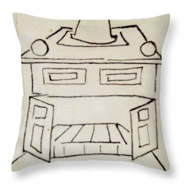 Franklin Throw Pillow by Erika Chamberlin