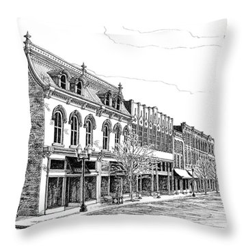 Franklin Main Street Throw Pillow